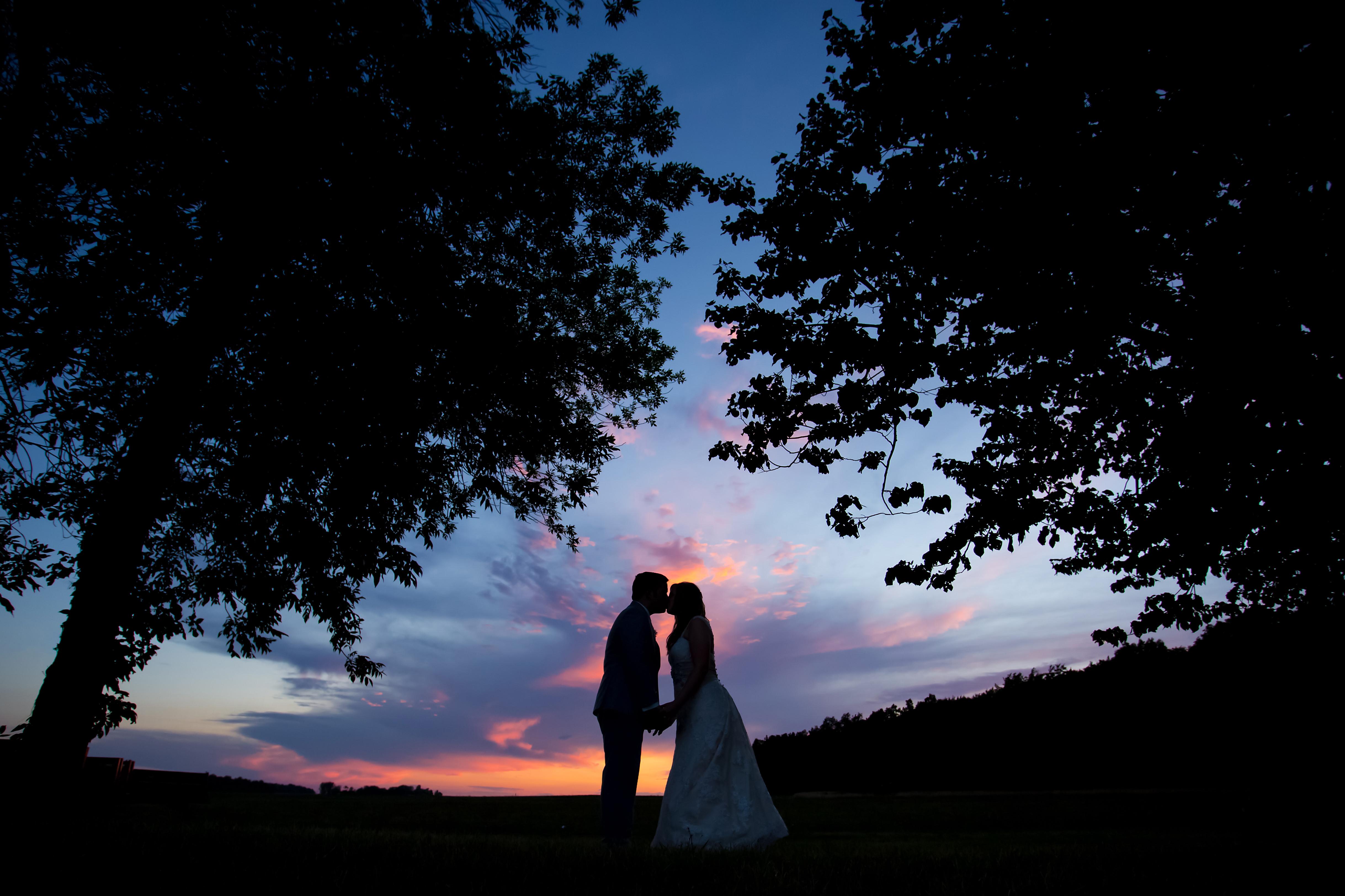 Vizcarra Vineyards Becker Farms Wedding Sunset